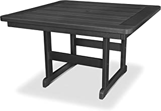 "product image for POLYWOOD PST48BL Park 48"" Square Table, Black"