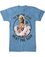 WWE World Wrestling Entertainment Ric Flair Beat The Man Adult Blue T-Shirt