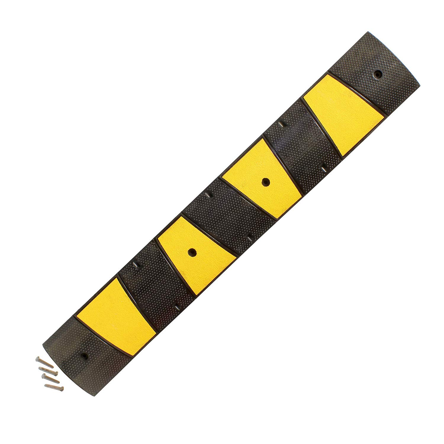BISupply | 6 FT Portable Speed Bump – Drive Over Cord Protector Rubber Speed Bumps for Driveway and Parking Lot