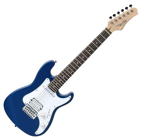 Rocktile Sphere - Guitarra eléctrica infantil, 3/4, color azul
