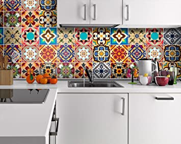 Tiles Stickers Decals   Packs With 48 Tiles (3.9 X 3.9 Inches, Wall Art