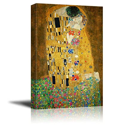Amazon.com: Wall26 Canvas Print Wall Art - The Kiss by Gustav Klimt ...