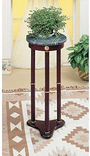 Legacy Decor Green Marble Round Plant Telephone Vase Stand New 28 High