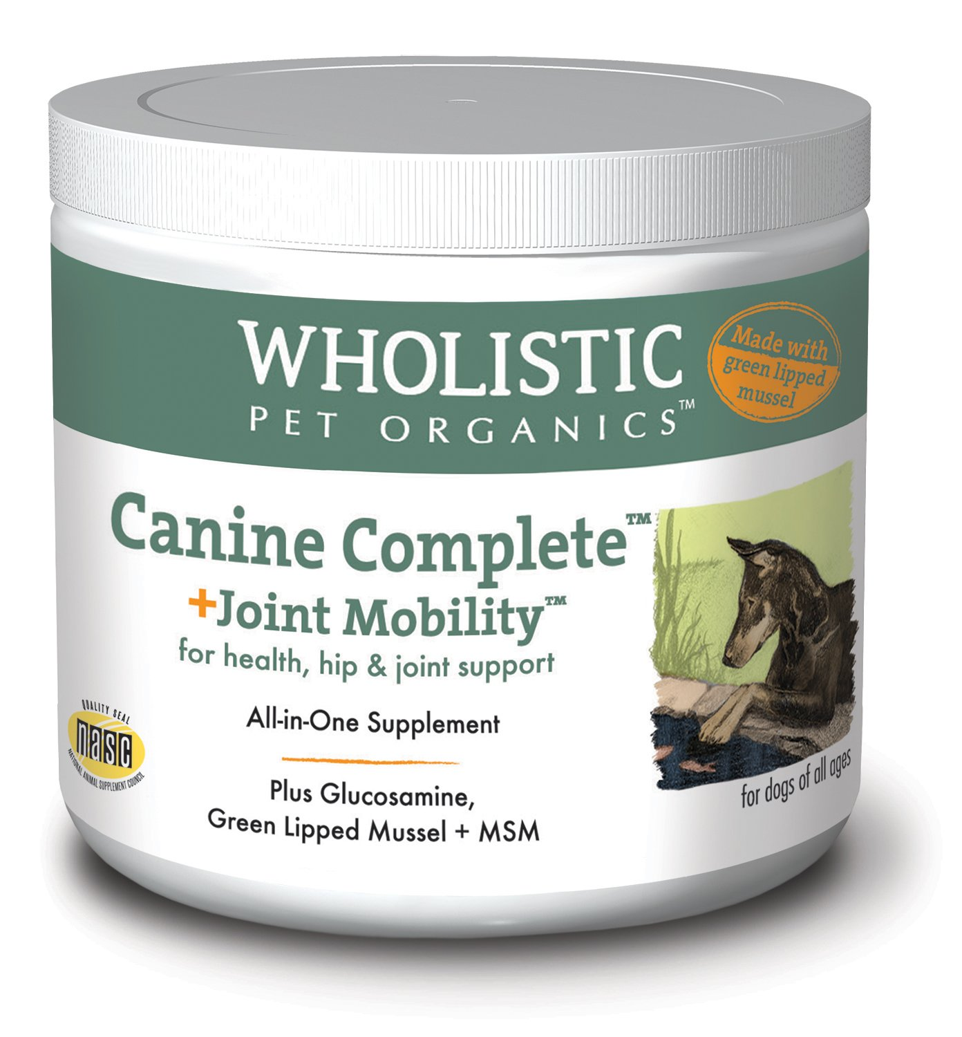 Wholistic Pet Organics Canine Complete Plus Joint Mobility with Green Lipped Mussel Supplement, 1 lb