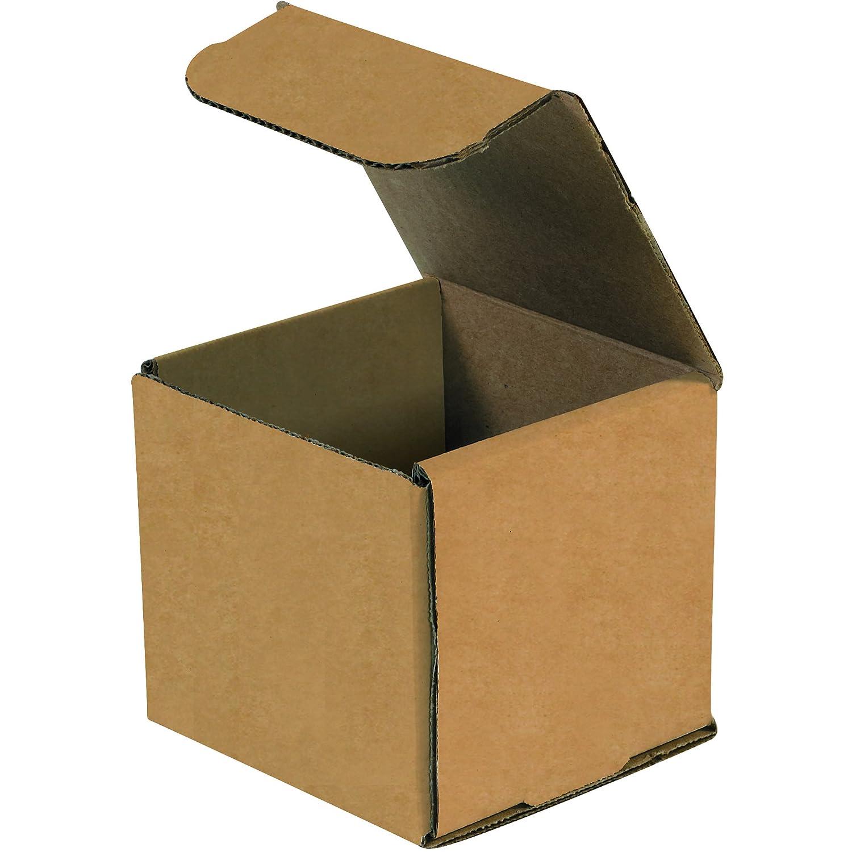 Cajas rápido bfm333 K sobres de cartón corrugado, 3 x 3 x 3 cm, 0,4 mm, parte superior, de una sola pieza die-cut cajas de envío, pequeño marrón papel Kraft ...