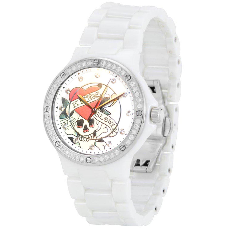 Ed Hardy Dreamer Love Kills Slowly Swarovski Crystal/ceramic Watch, Dm-lk by Ed Hardy (Image #4)