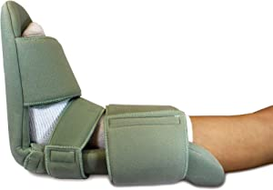Padded Night Splint 90 Degree Immobilizing Stretching Sleeping Boot- Recovery for Plantar Fasciitis, Drop Foot, Achilles Inflammation, Heel Spurs and More by Brace Direct