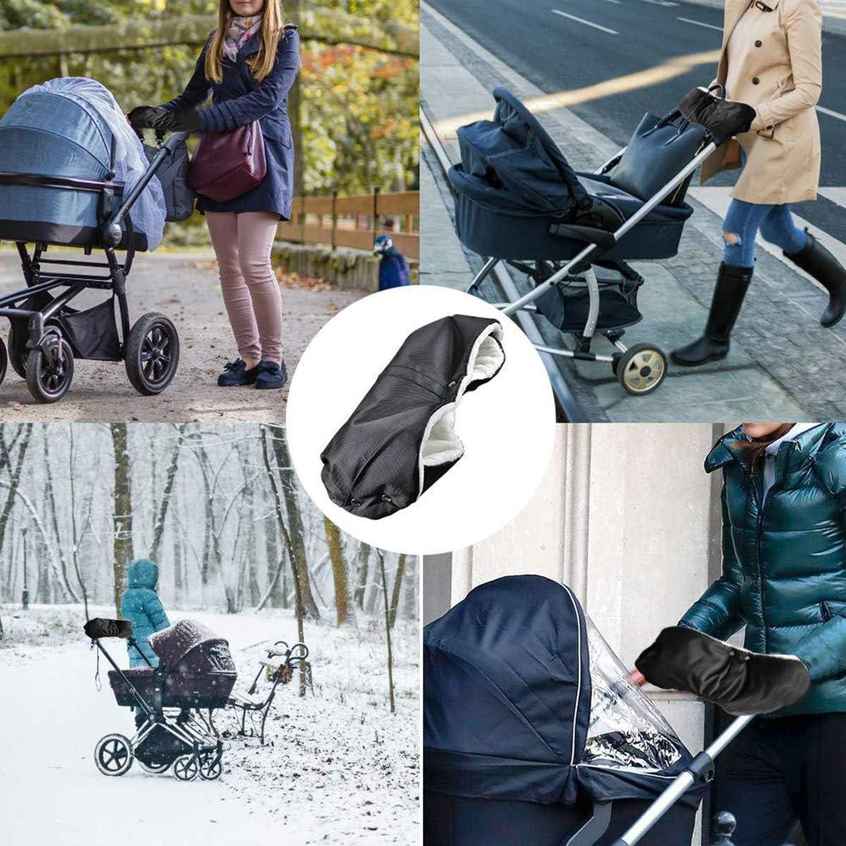 Baby Pushchair//Pram//Stroller Fleece Hand Muff Winter Warm Hand Gloves Anti-freeze Waterproof Baby Stroller Handlebar Cover Mitten Baby Carriage Gloves