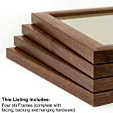 Craig Frames 23247616 8 by 10-Inch Picture Frame 4-Piece Set, Smooth Finish, 1-Inch Wide, Walnut Brown
