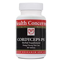 Health Concerns - Cordyceps PS - Dong Chong Xia Cao Chinese Herbal Supplement - Supports Lung Function - with Cordyceps Fruiting Body - 50 Count
