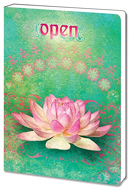 Amazoncom Open Lotus Flower Spiritual Journal Notebook 55 X 75