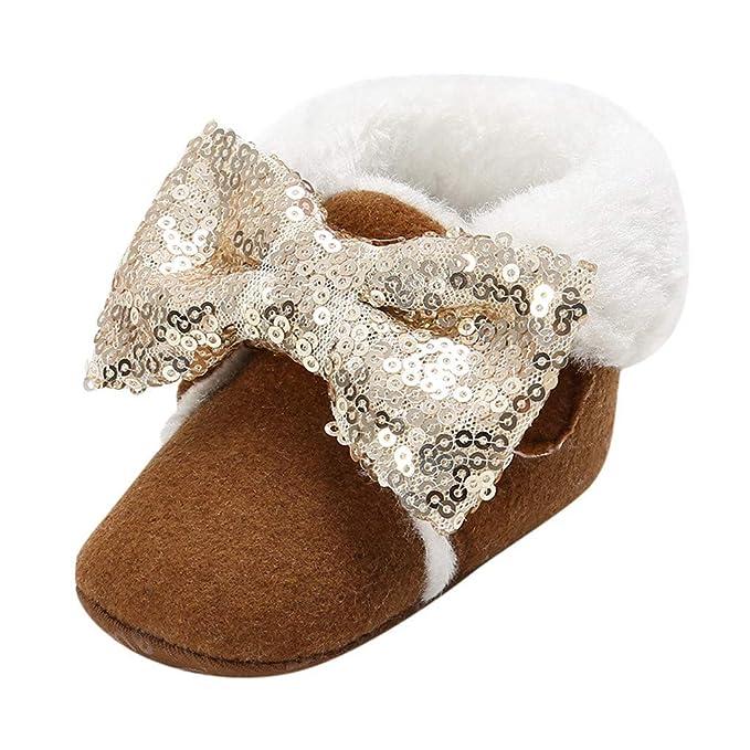 Amazon.com: Botas de nieve para bebé y niña, con lentejuelas ...