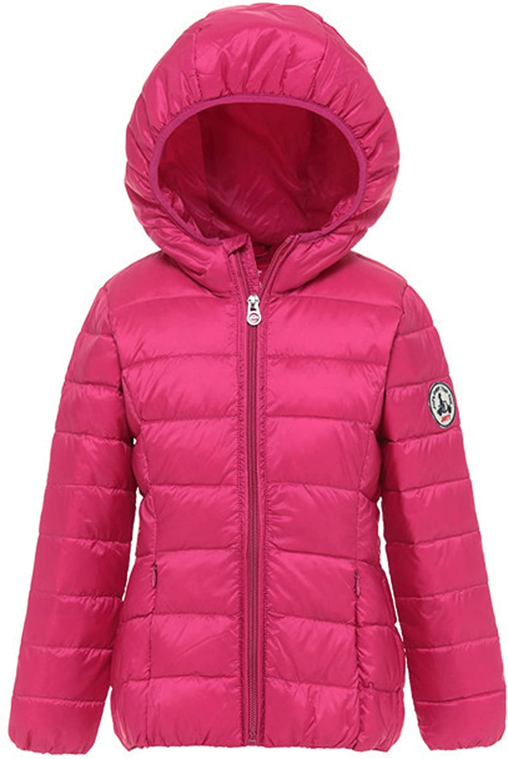 Wenseny Boys Girls Winter Packable Quilted Hooded Down Jacket Lightweight ace006