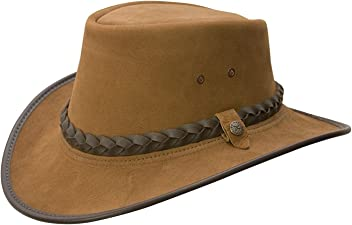 New Conner BC Hats Bac Pac Traveller Buffalo Leather (Small b1449a952d33