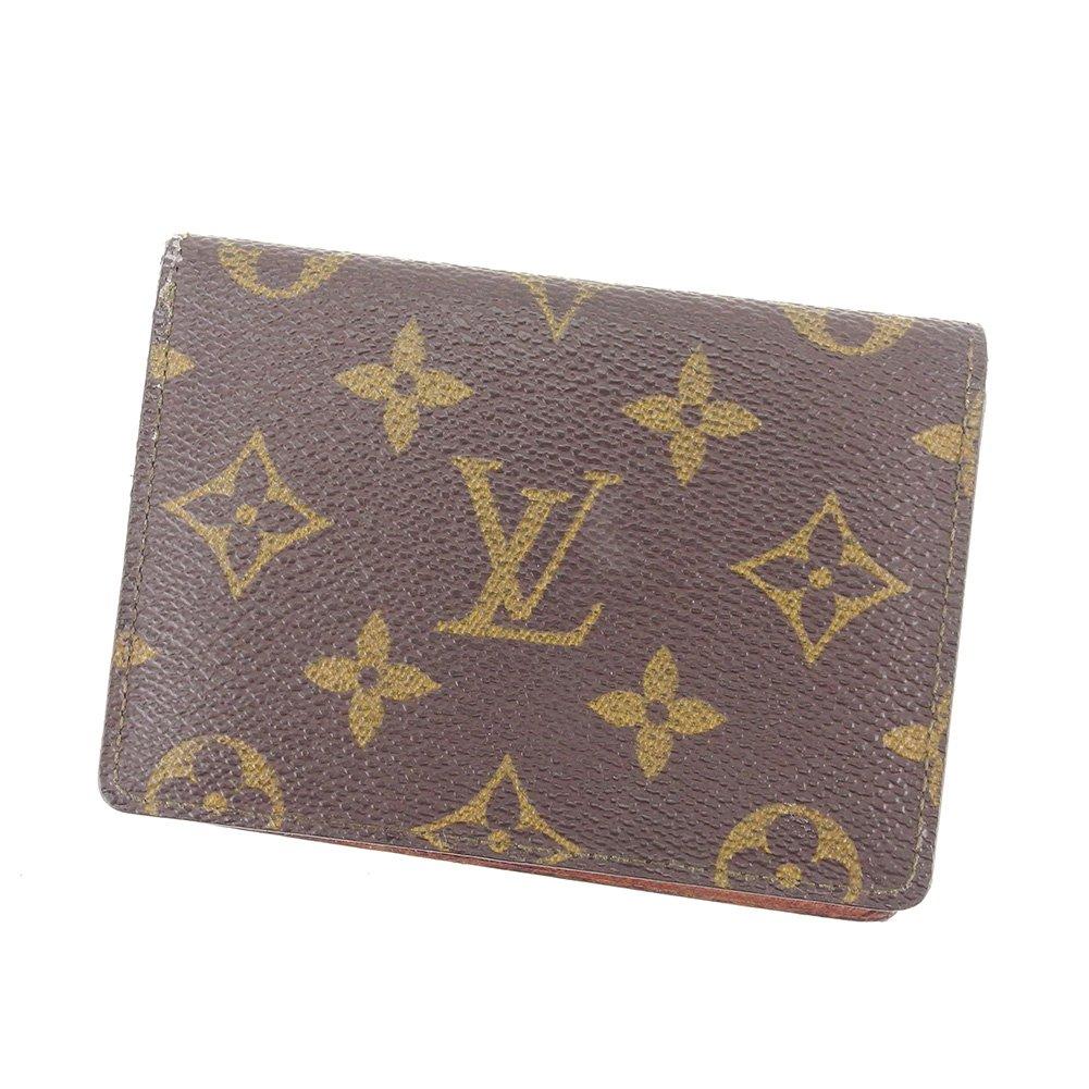 (ルイ ヴィトン) Louis Vuitton 定期入れ パスケース ブラウン ポルト2カルトヴェルティカル モノグラム レディース メンズ 可 中古 T7471   B07DM1LSM8