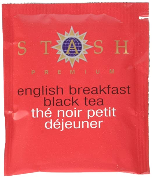 Stash Tea English Breakfast Black Tea, 100 Count Box of Tea Bags in Foil, Net Wt 7 oz.