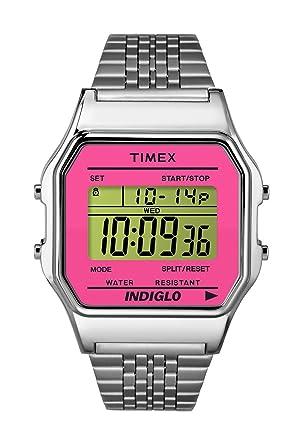 Timex 80 TW2P65000 Stainless Steel Pink Digital WR 30m Quartz Womens Watch