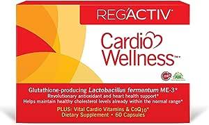 Reg'Activ Cardio Wellness with Glutathione Producing Lactobacillus fermentum ME-3, Pantethine and CoQ10