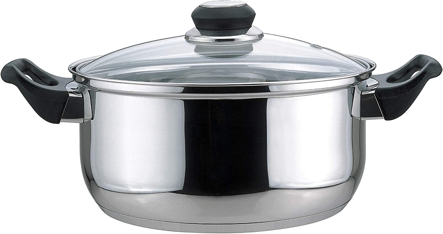Culinary Edge 01004 Dutch Oven with Glass Cover, 4-Quart