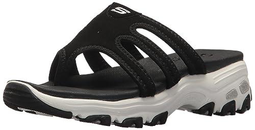 Women's Skechers, D Lites Inter Webs Slide on Sandals