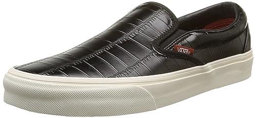 Homme Noir Black Croc Leather Black Synthétique Vans Classic
