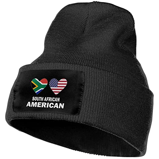 COLLJL-8 Men   Women South African American Hearts Outdoor Fashion Knit  Beanies Hat Soft 6f51b0798