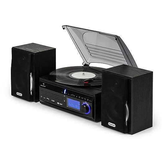 Auna MG-DS2 Sistema Multimedia Estéreo con Tocadiscos: Amazon.es ...