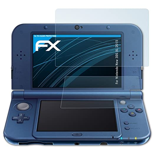atFoliX Lámina Protectora de Pantalla para Nintendo New 3DS ...