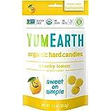 Yum Earth - Organic Candy Drops Gluten Free Cheeky Lemon Flavor - 3.3 oz. (93.5g).Pack of 2
