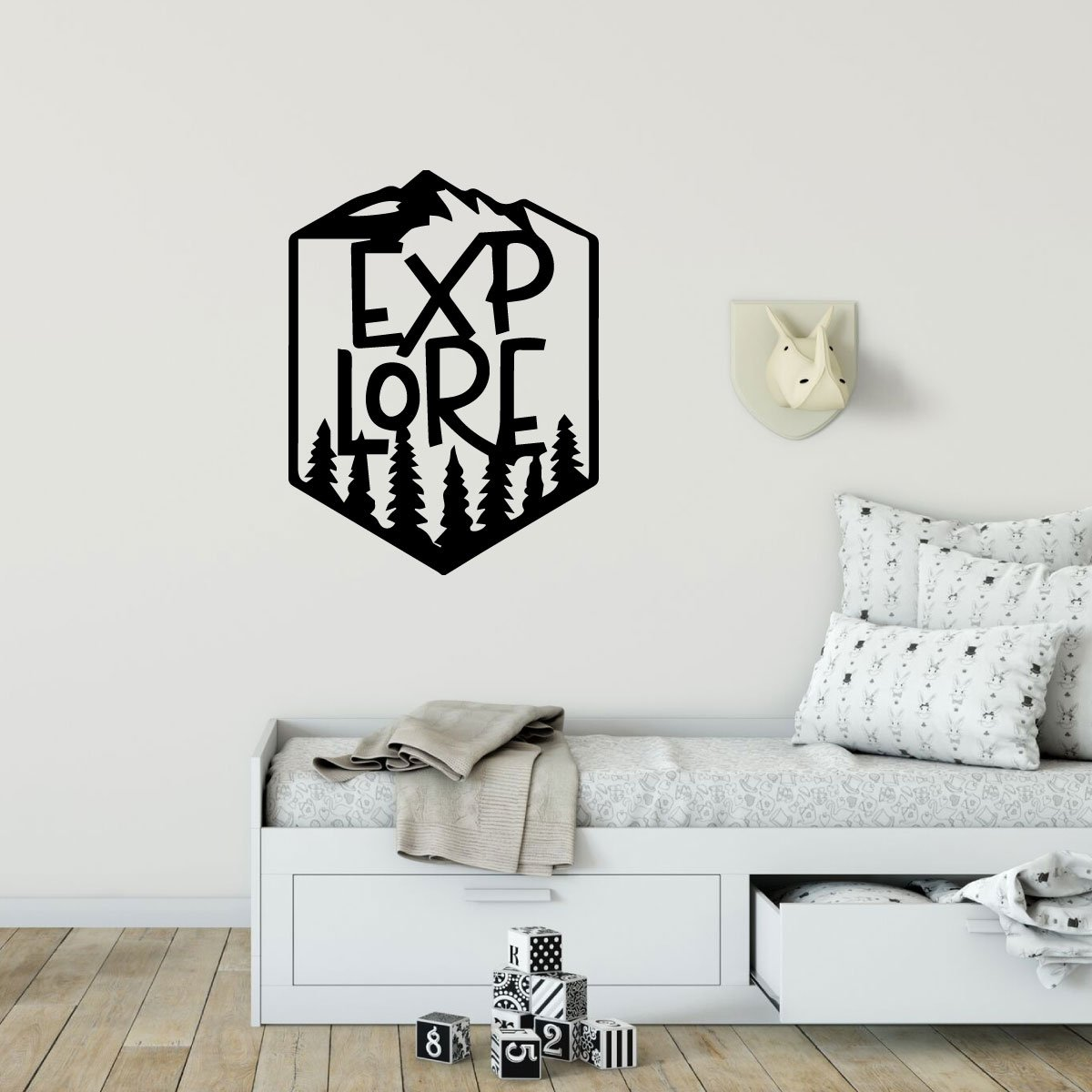 Explore Wall Decor - Hiking Vinyl Decoration For Bedroom, Home, Office, or Classroom