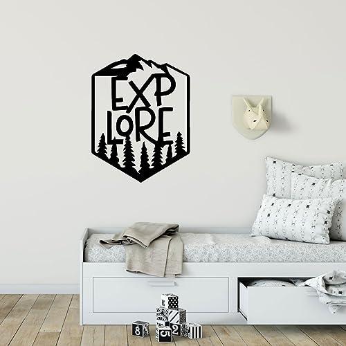 Amazon Com Explore Wall Decor Hiking Vinyl Decoration For