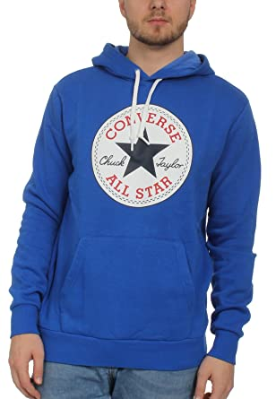 Converse Herren Sweater CORE GRAPHIC PULLOVER HOODIE 10005598 483 Blue