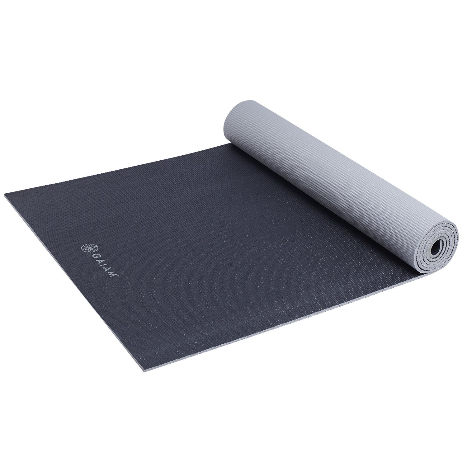 Gaiam Athletic Yoga Series dynaMAT Xtra-Large Mat, Black ...