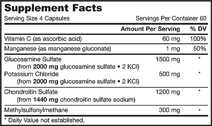 Glucosamina + Condroitina + Combinación HSH, 240 Cápsulas - Fórmulas de Jarrow: Amazon.es: Salud y cuidado personal
