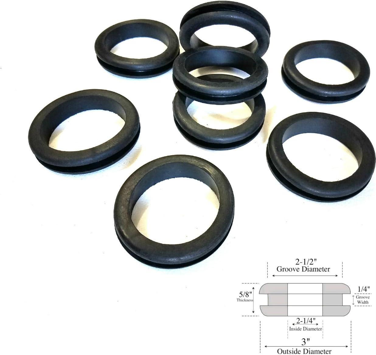 "Lot of 8 Rubber Grommets 1/"" Inside Diameter Fits  1-1//4/"" Panel Holes 1//2/"" GW"