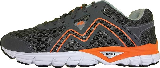 KARHU Men s Fulcrum Smart (Charcoal/Mykonos) f100194 Zapatillas Running Hombre, Hombre, Grey/Orange/White: Amazon.es: Deportes y aire libre