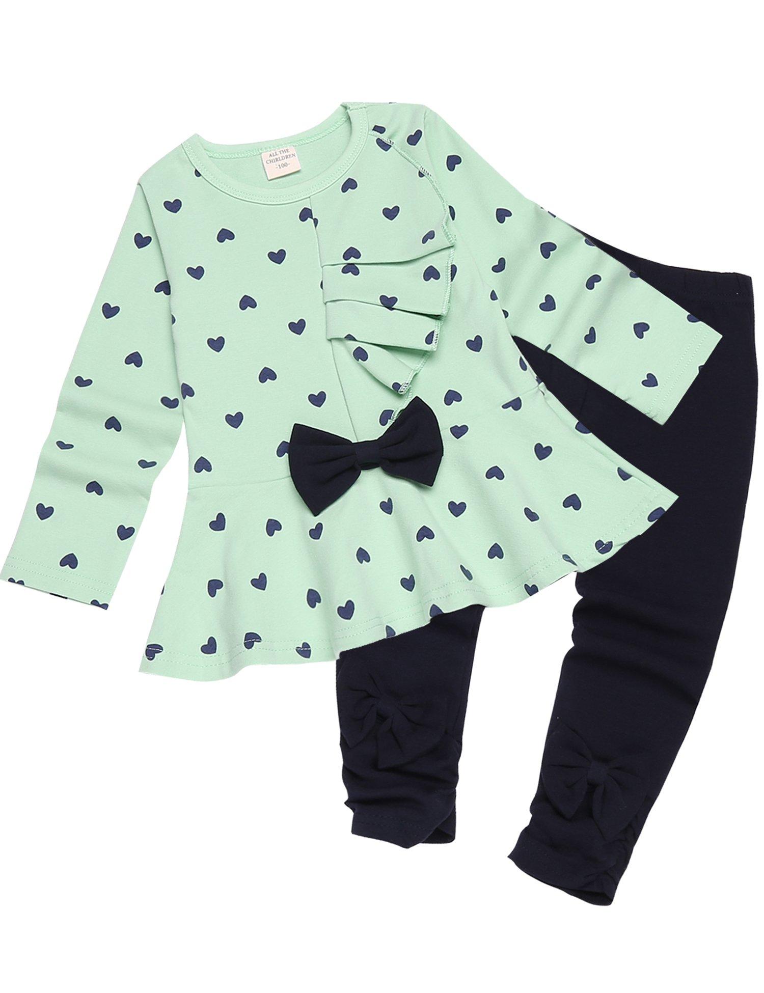 Zeagoo Baby Girls Pjs Sets Kids Cute 2pcs Outfits Toddler PJS Cotton Pajamas for Girls