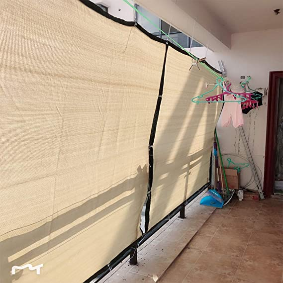 LKLXJ Vela De Sombra/Beige Canopy Rectangle 4x6m , 85% para El Parabrisas del JardíN, Tela De Malla De 160 G/M De Espesor, Utilizada para La Cubierta De La Planta De La Cochera