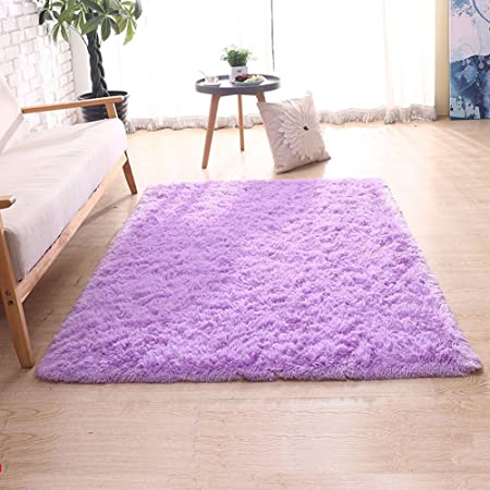 Lucky GIRL Living Room Soft Thick Carpets Floor Mat Shaggy Area Rug ...