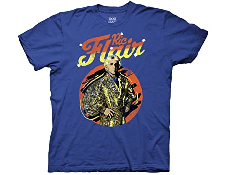 e6ccd3d17d3 Amazon.com  Ripple Junction WWE RIC Flair The Nature Boy Adult T-Shirt   Clothing
