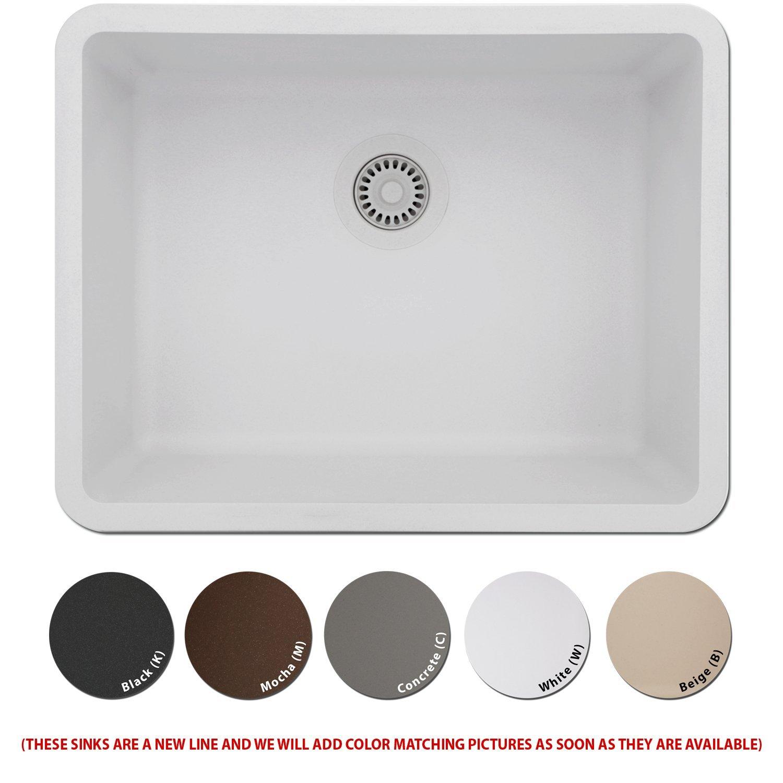 Amazon.com: Lexicon Platinum Quartz Composite Kitchen Sink   Medium Single  Bowl (LP 2318 Black): Kitchen U0026 Dining