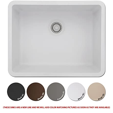High Quality LEXICON Platinum Medium Single Bowl Quartz Composite Kitchen Sink Mocha  Brown Finish