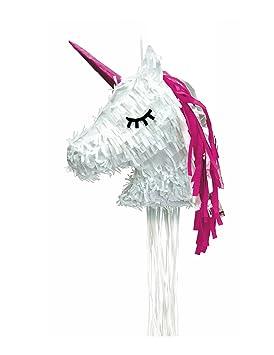 Generique - Piñata Unicornio Blanco Kawaii: Amazon.es ...