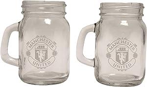 Manchester United FC Mason JAR Shot Glasses WH