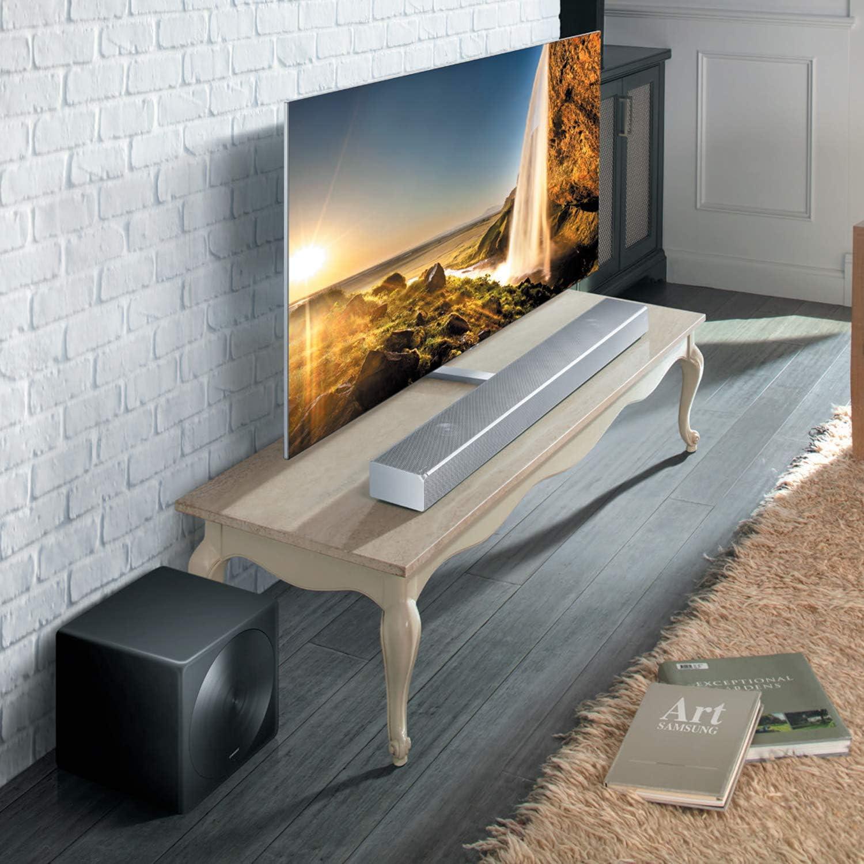 Samsung HW-MS651 (450 W) Barra de sonido inalámbrica para TV con cancelación de distorsión (plata)