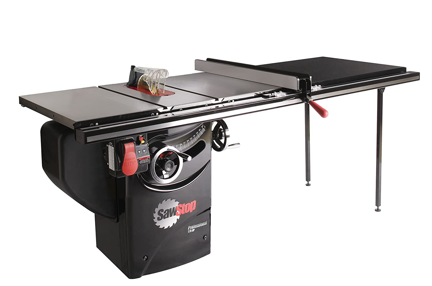 SawStop PCS175-TGP252 1.75-HP Professional Cabinet Saw Assembly with 52-Inch Professional T-Glide Fence System, Rails and Extension Table