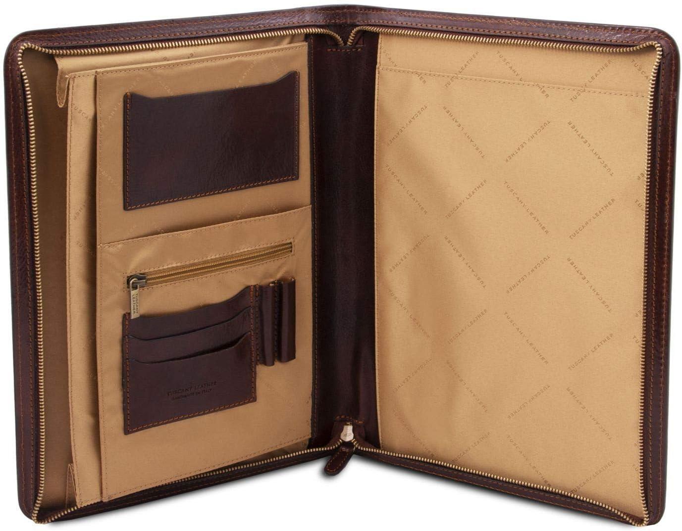 Tuscany Leather Ottavio Klassische Dokumentenmappe aus Leder Braun