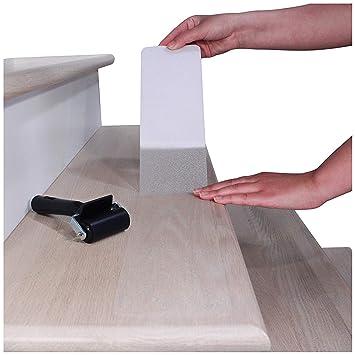 f/ür Treppen//Stufen Easy Clean 35 x 65 cm 15 x Sossai/® Stufenmatte STAIR PROTECT Treppenschutz transparent und selbstklebend