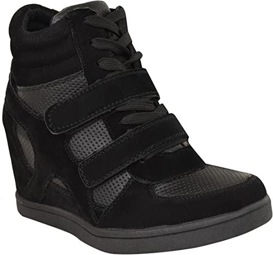 FEMMES COMPENSÉE NEUF TAILLE MONTANT CHAUSSURES SPORT BOTTINES SEMELLE TENNIS CHEVILLE BASKETS 7yvY6gbf