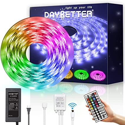 for Home 20 Keys led Color Changing Light IR Remote Control Kitchen,DIY Decoration Bedroom DDKK Led Strip Lights 5M//16.4 Ft LED Color Changing Kit with Flexible Strip 5050 RGB 150 LEDs Light